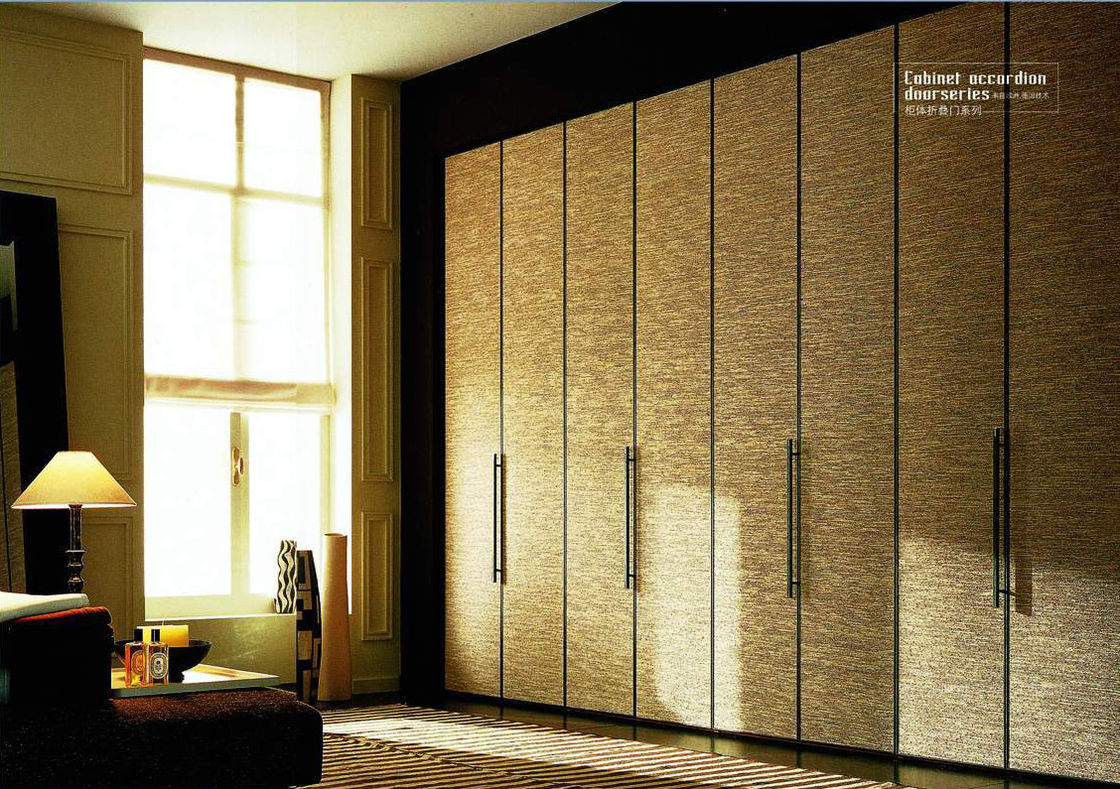 elegant folding closet doors in cream with stick handle with carpet and glass windowfor bedroom ideas