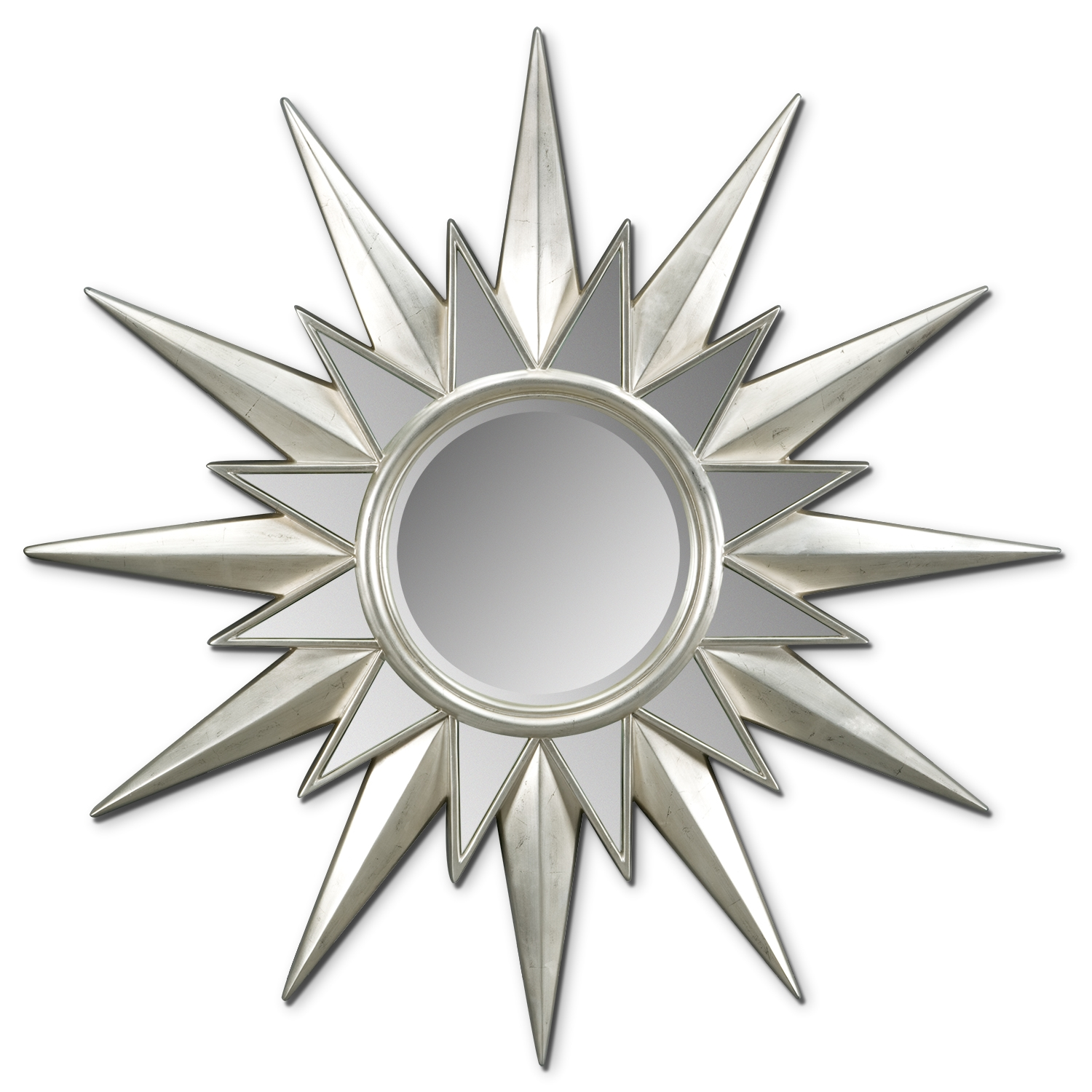 Elegant Silver Starburst wall decor with Mirror For Stylish wall ideas
