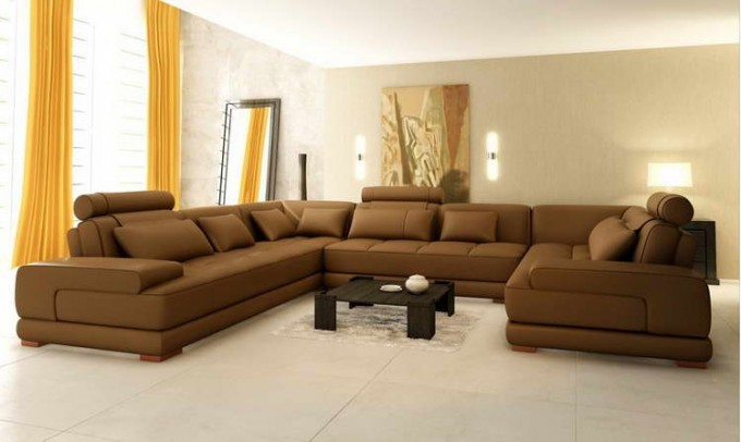 Enchanting Living Room With Peru Sectional Couches Plus Black Table On White Ceramics Floor For Inspiring Living Room Decor Ideas