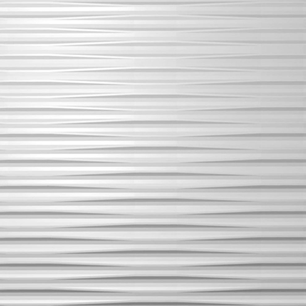 Fancy Textured Wall Panels Decorations Come With Beautiful Design in white
