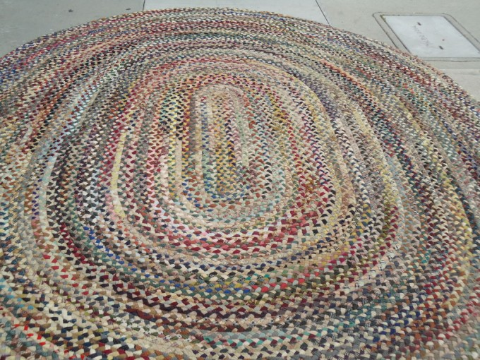 Fantastic Oval Large Multicolor Wool Braided Rugs For Floor Decor Ideas