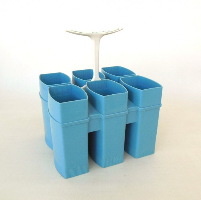 Flatware Utensil Caddy In Blue And Stylish Design Ideas