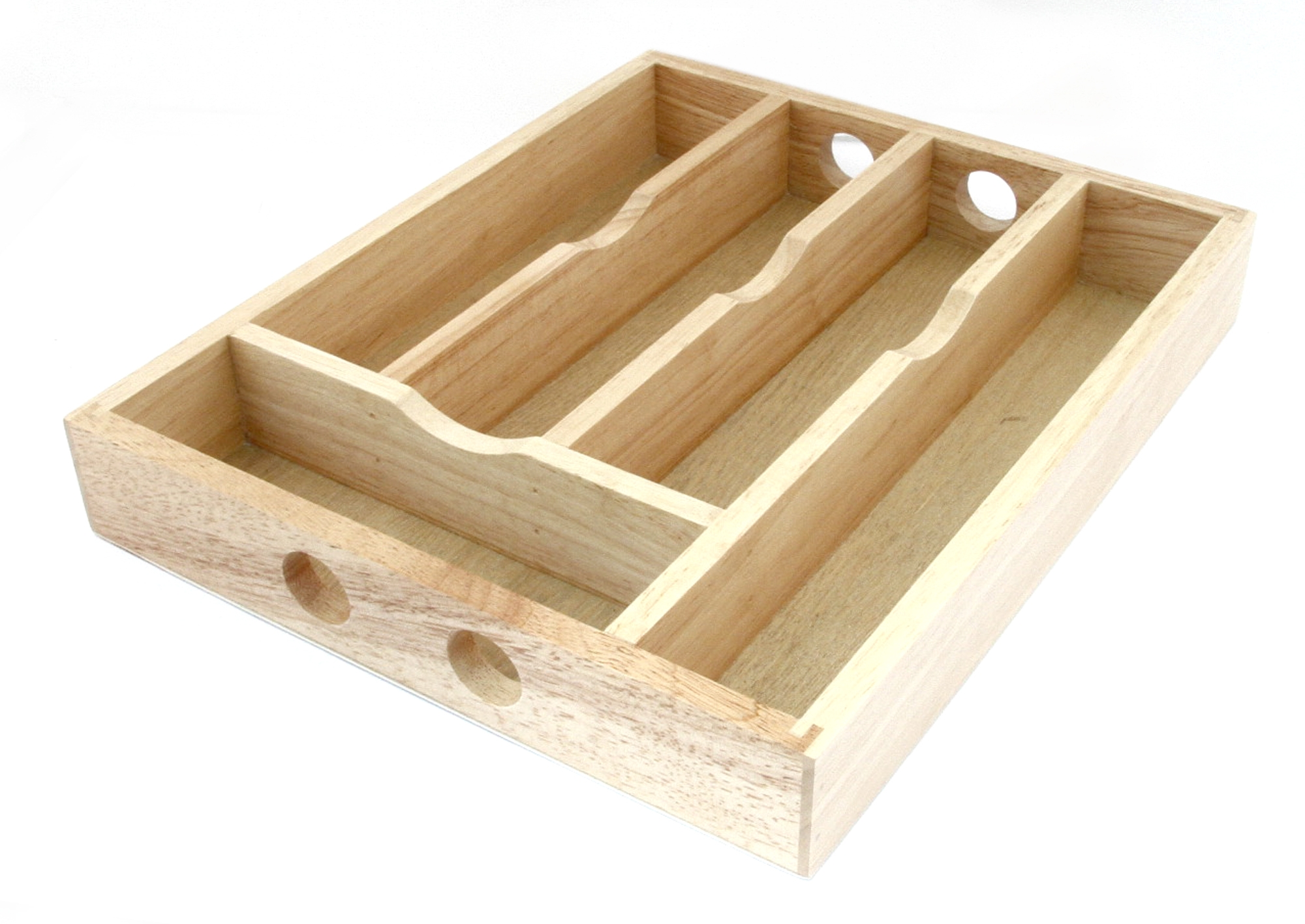 Flatware wooden utensil caddy for your compact utensil ideas