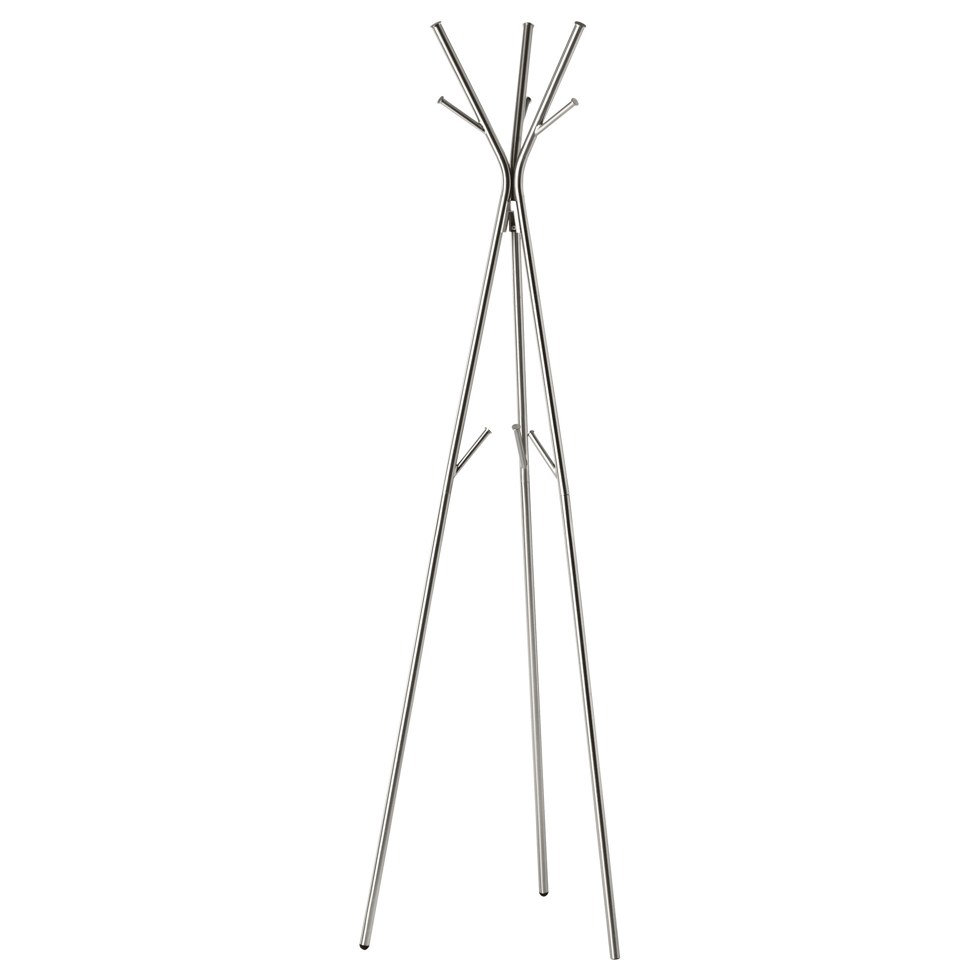 floor standing coat rack with triple legs