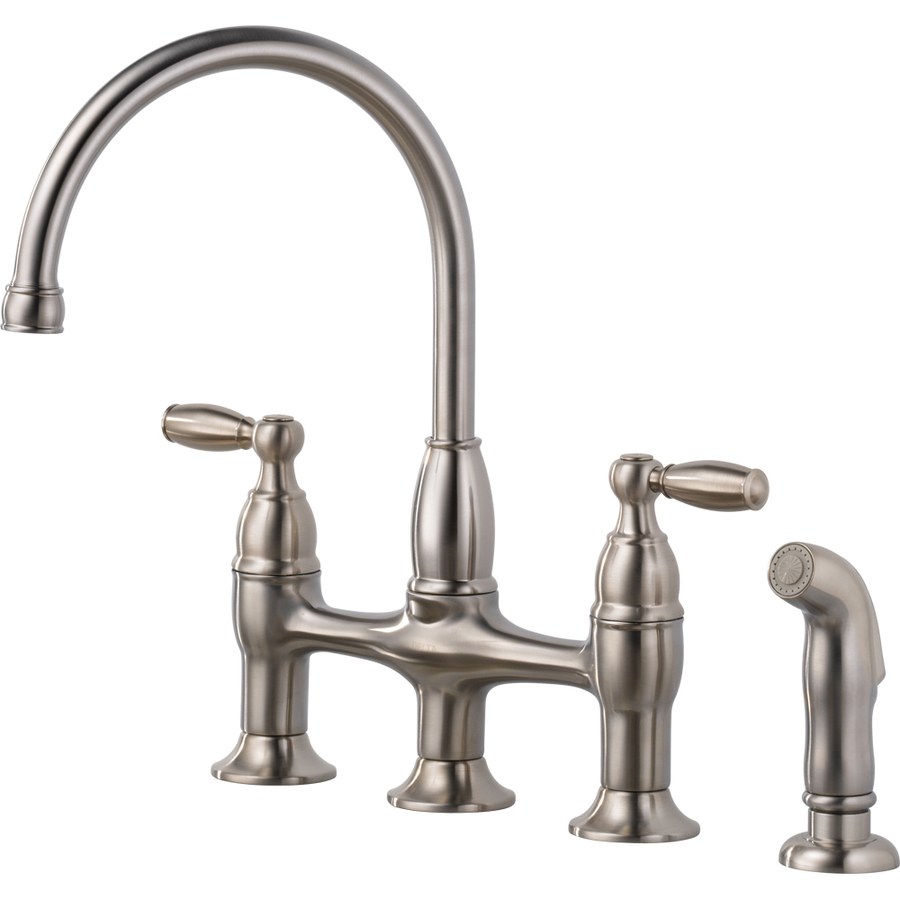 Furniture Bridge Style Of Lowes Kitchen Faucets With Double Handle