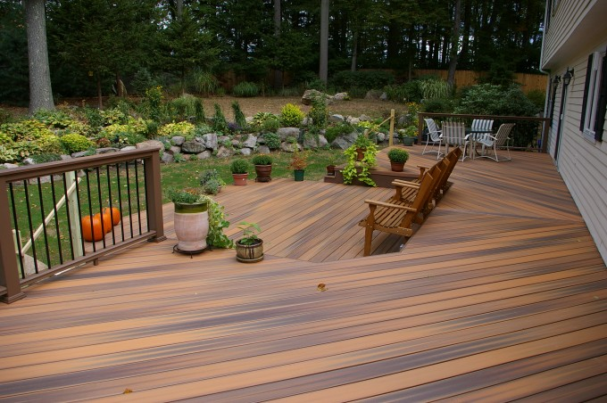 Great Azek Decking And Railing Plus Chairs For Deck Ideas
