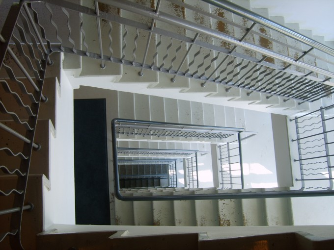 Grey Handrails For Stairs With White Treads Ideas With White Wall