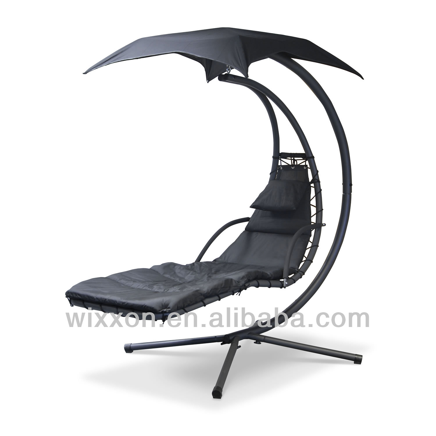 Helicopter Swingasan Chair design in black theme