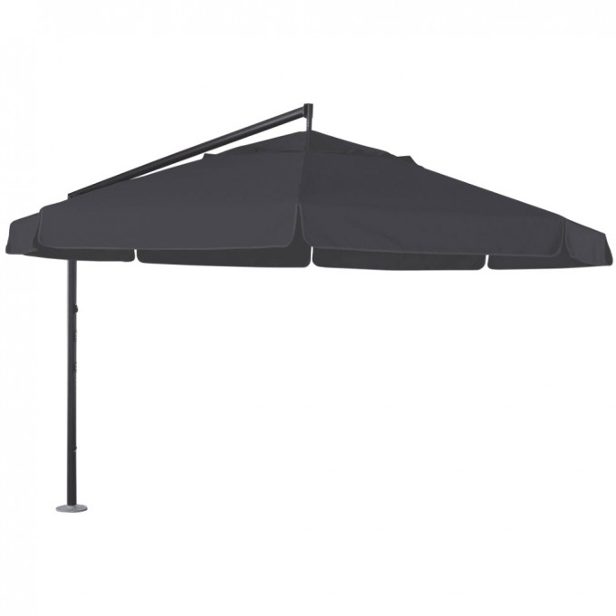 Helios 430cm Octagonal Cantilever Umbrella In Black For Patio Furniture Ideas