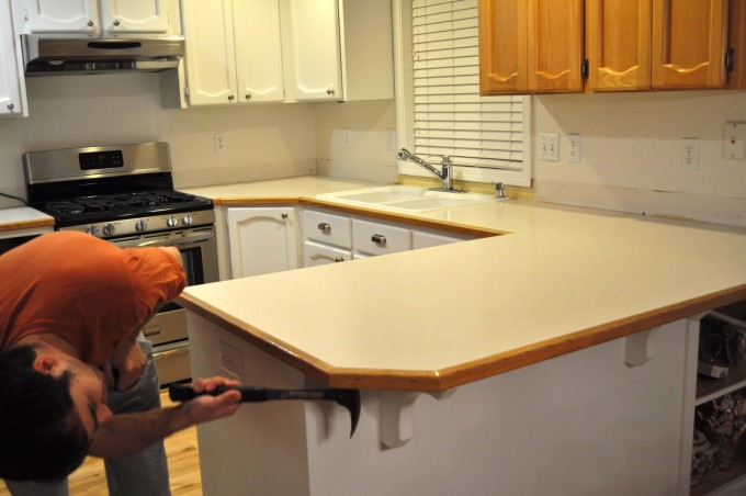 How To Install Butcher Block Countertops On A Kitchen