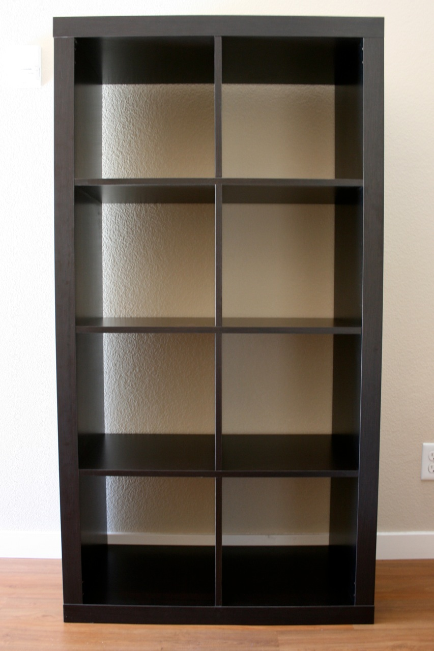 Ikea Expedit bookcase in black on white wall for best furniture ideas