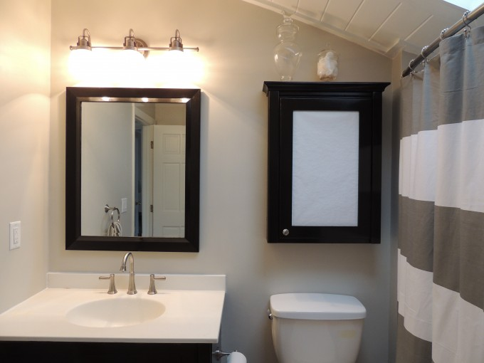 Inspiring Bathroom With Lowes Bathroom Lighting On The Wall Plus Sink Under The Mirror Ideas