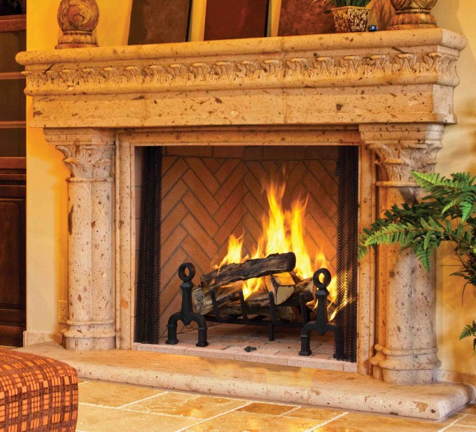 Inspiring Isokern Fireplace With Ceramic Wall Plus Sofa For Family Room Ideas