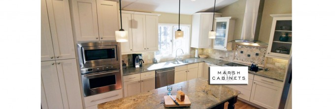 Inspiring Kitchen Design With White Wellborn Cabinets And Oven Plus Chandelier And Wooden Floor Ideas