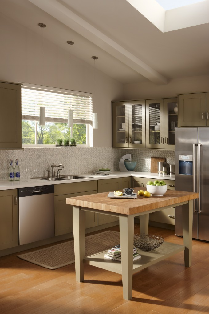 Inspiring Kitchen With Butcher Block Countertops Plus Sink And Oven Plus Frige Ideas
