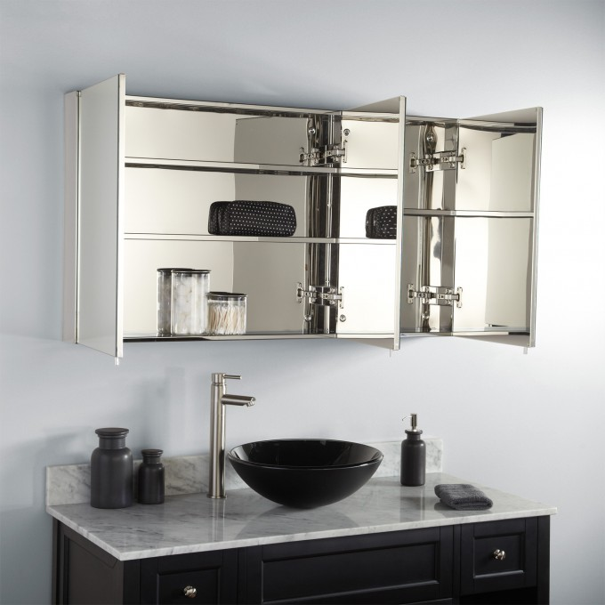 Inspiring Lowes Medicine Cabinets On White Wall Plus Black Sink Plus Silver Faucet In Modern Design