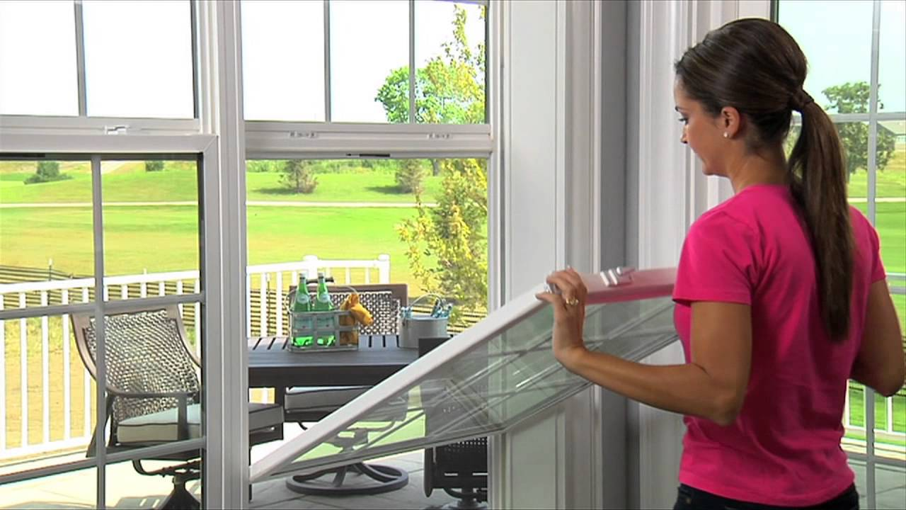 installation white pella windows