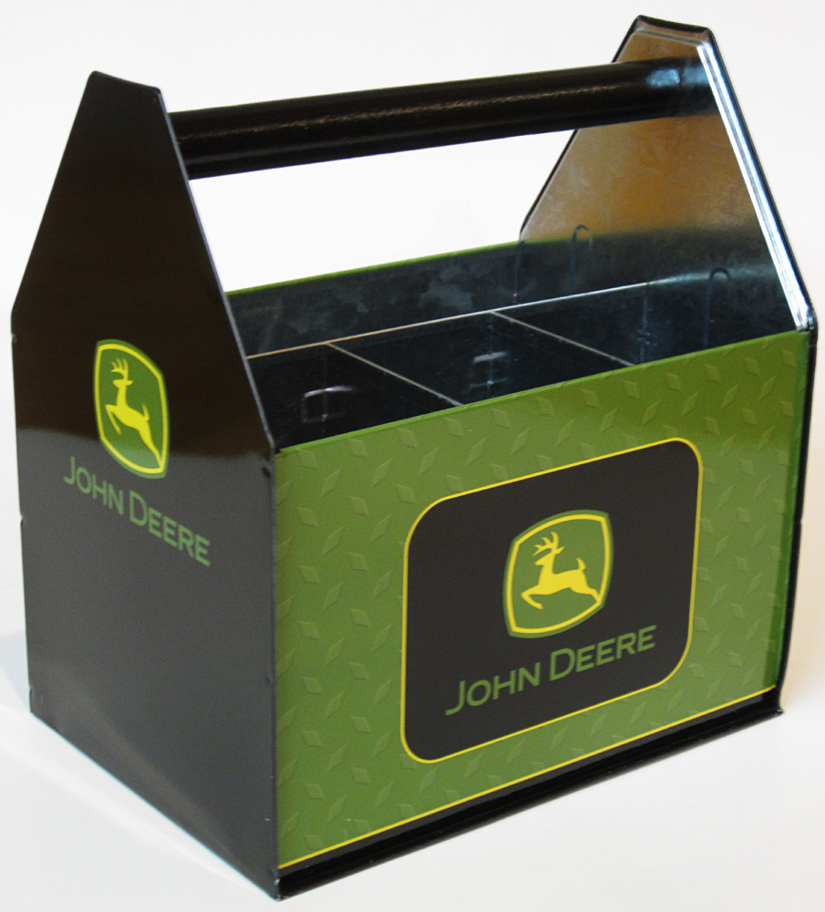 John Deere tin utensil caddy in modern design