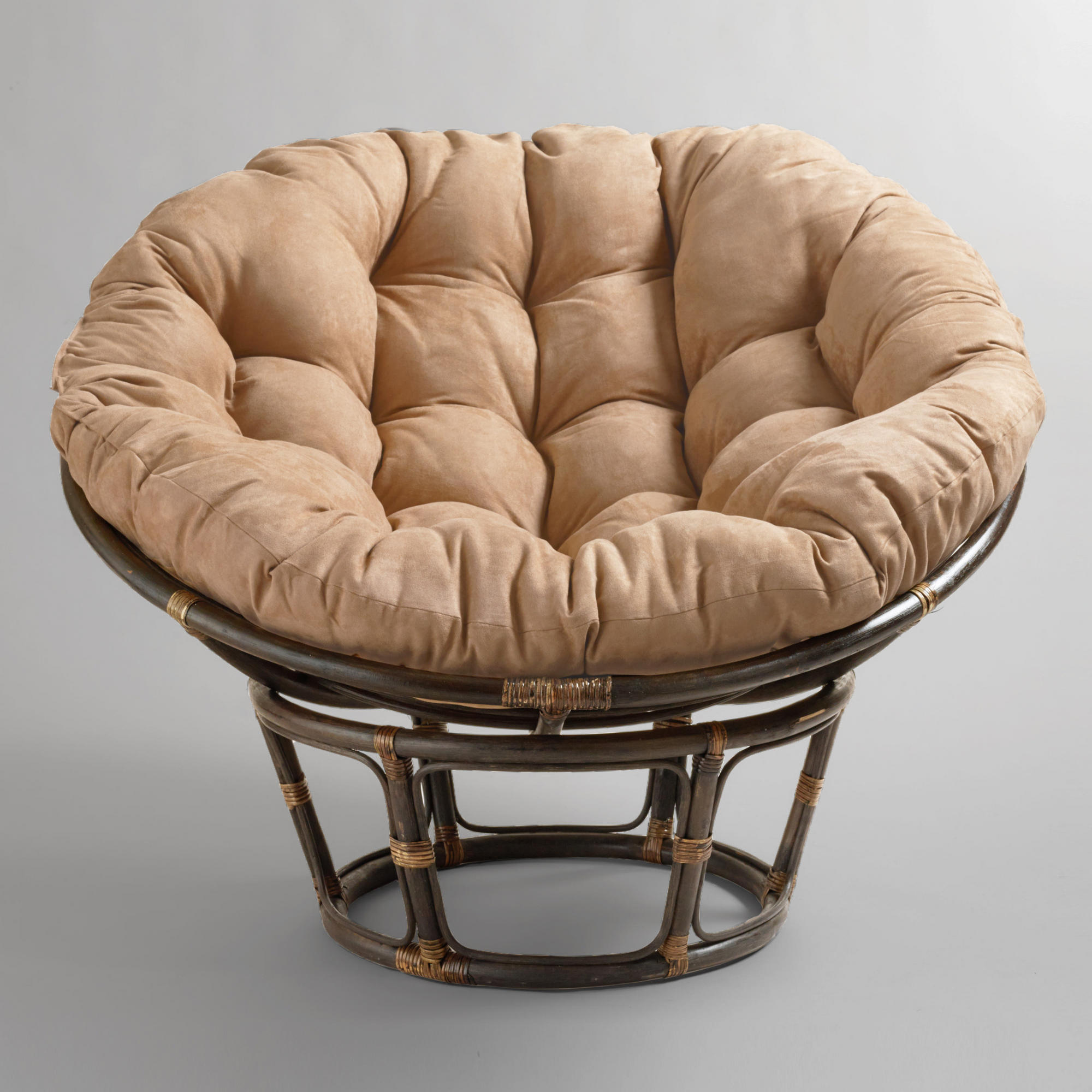 Furniture Khaki Microsuede Papasan Chair Cushion From Cost Plus World