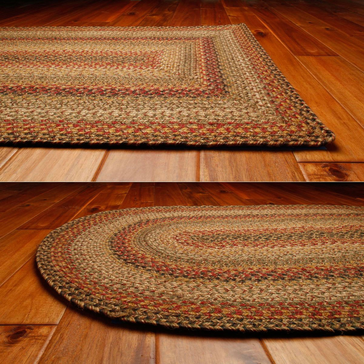 Kingston Jute Braided Rugs in oval and rectangle options