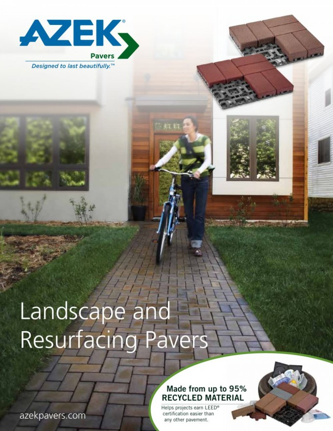 Landscape And Resurfacing Pavers With Azek Pavers Ideas