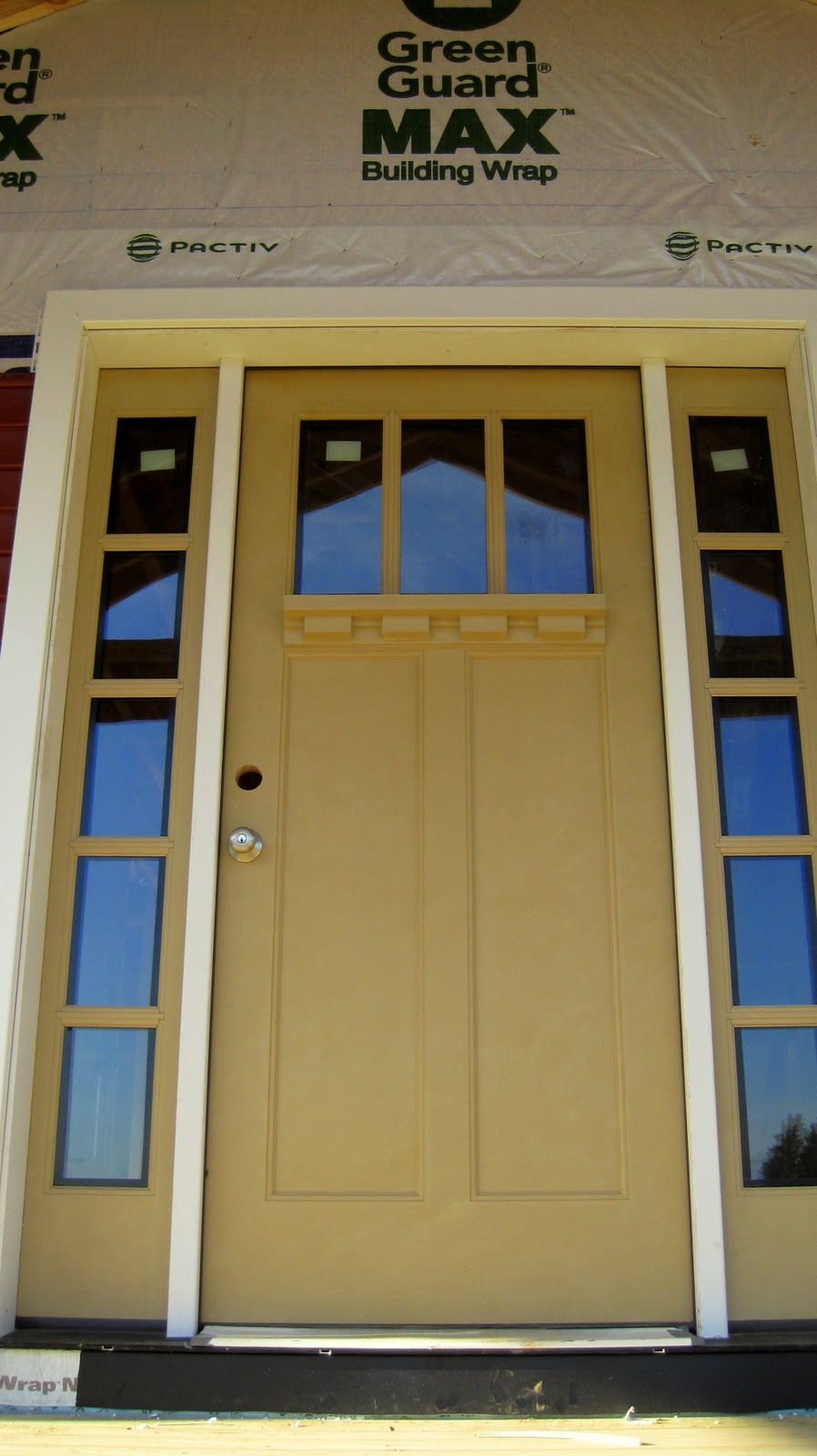 Latte Therma Tru Entry Doors With Golden Dorknob Handle For Door Inspiration