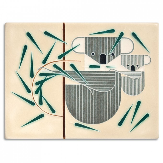 Leaves For Lunch Charley Harper Motawi Tile For Wall Ornament Ideas