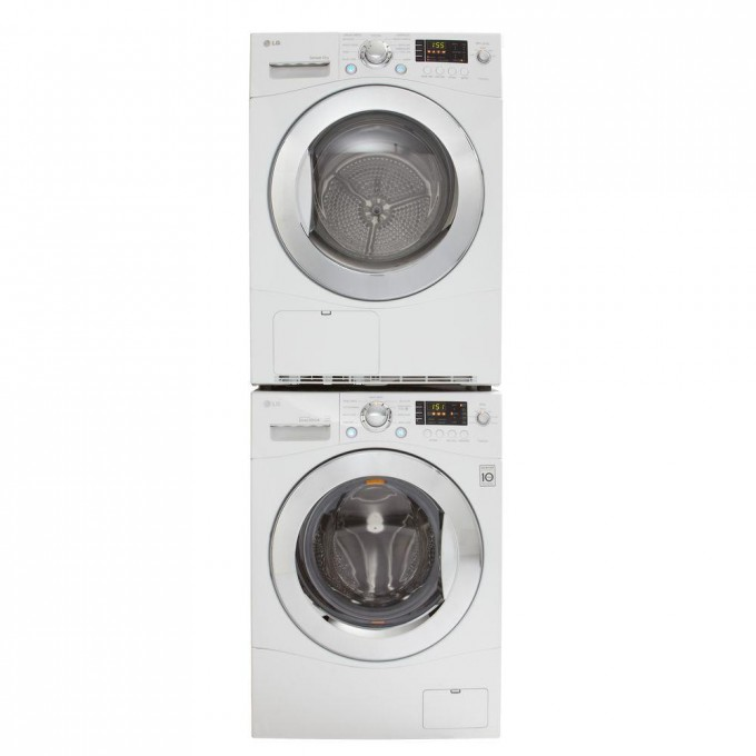 LG Electronics 4 2 Cu Ft Electric Ventless Stackable Washer And Dryer In White For Laundry Furniture Ideas