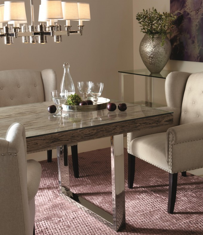 Licing Room Design With Sprintz Furniture With Wheat Chairs And Table Plus Purple Carpet And Chandelier Ideas
