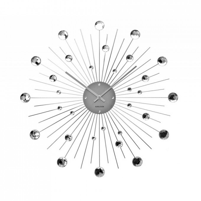 Lovely Oversized Wall Clock With Droplets Ornament For More Beautiful Wall Accessories