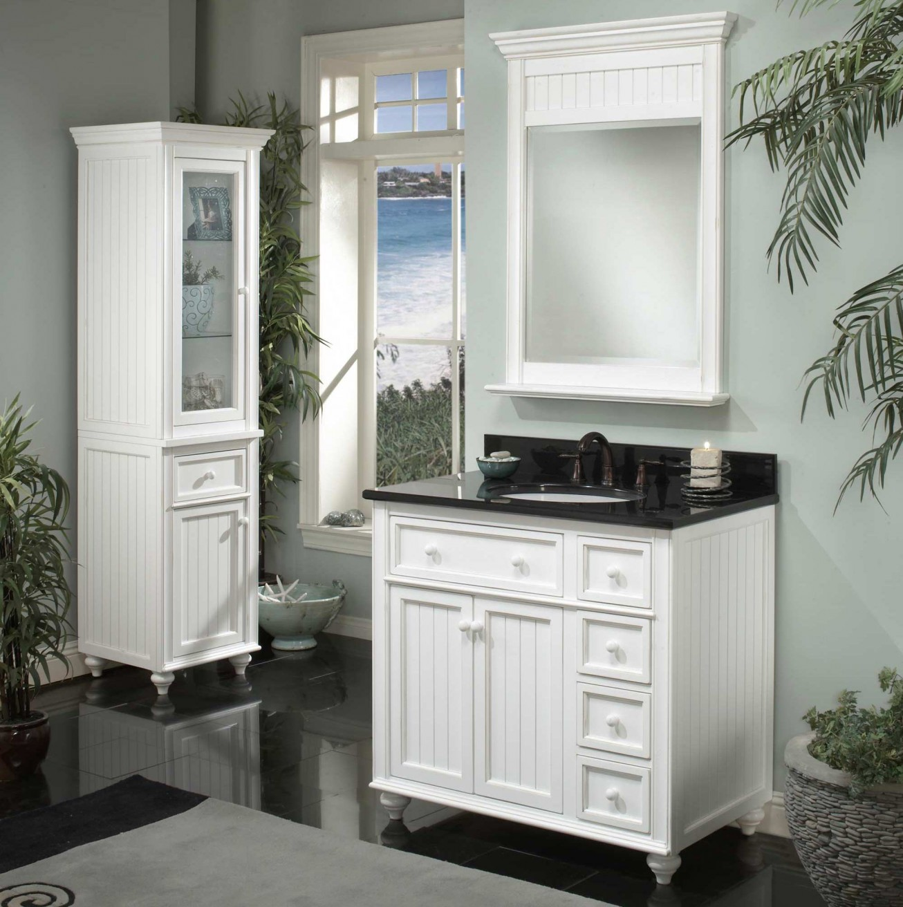 Bathroom Inspiring Lowes Bathroom Lighting With Lovable Design - Black mirrored bathroom cabinet for bathroom decor ideas