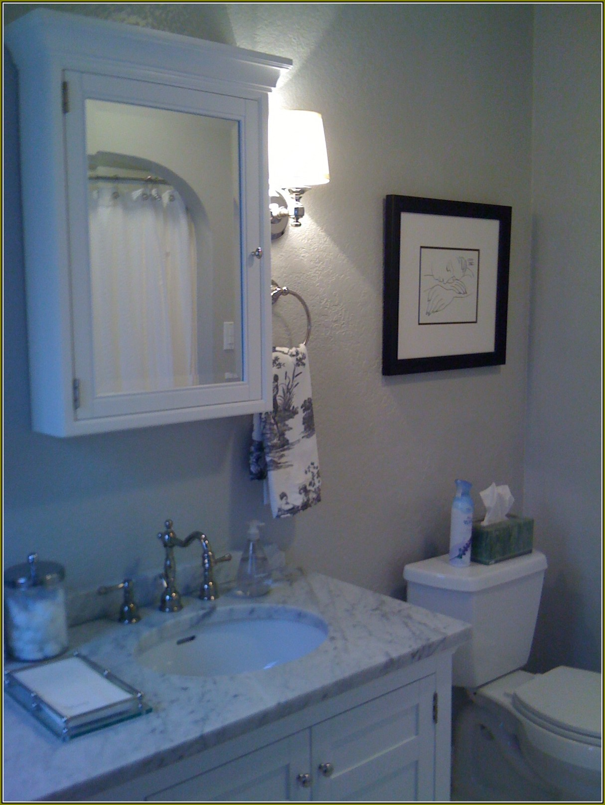 Lowes Medicine Cabinets With Lights on wall plus sink with marble countertop plus silver faucet