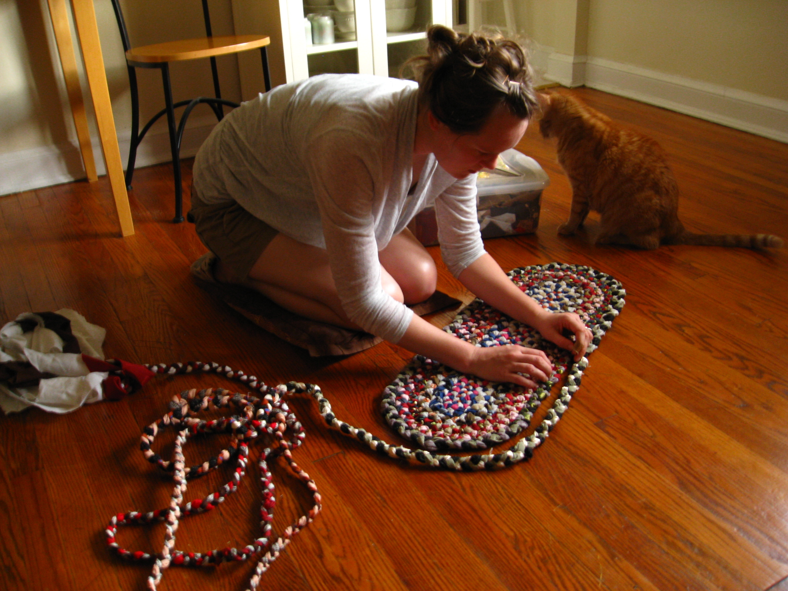 making a charming multicolor braided rugs for your floor decor ideas