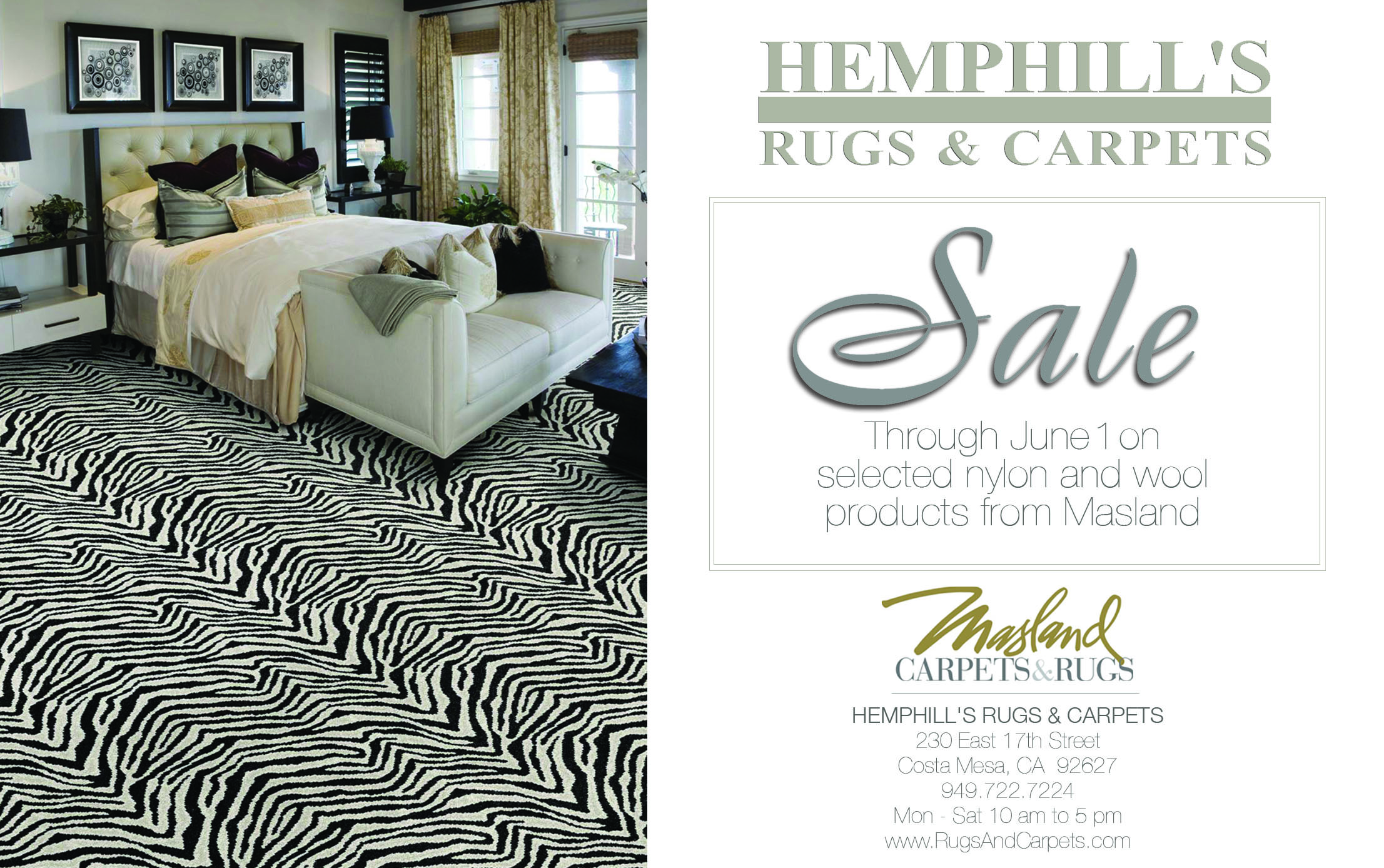 masland carpet in zebra motif with white sofa plus cushions for family room ideas