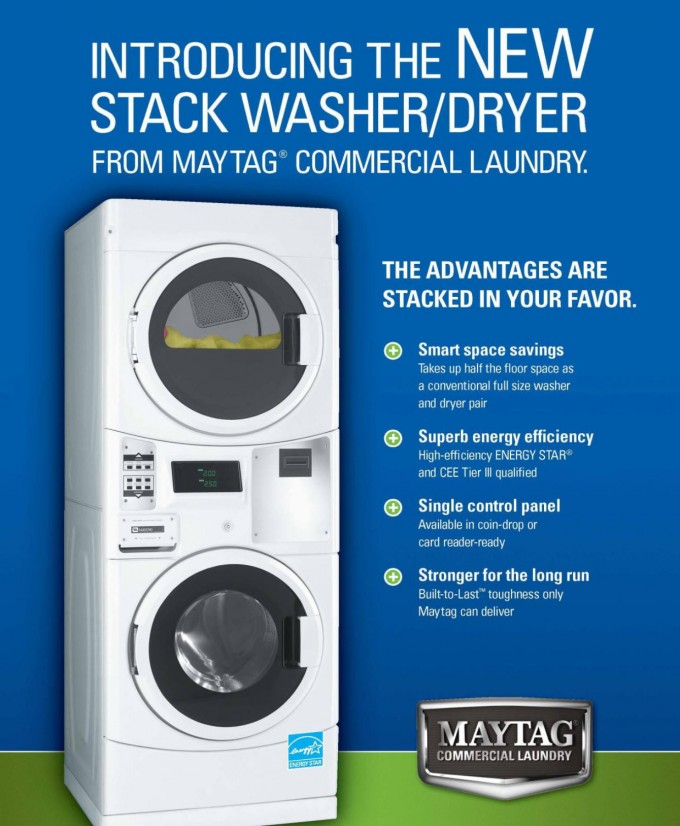 Maytag stackable washer and dryer
