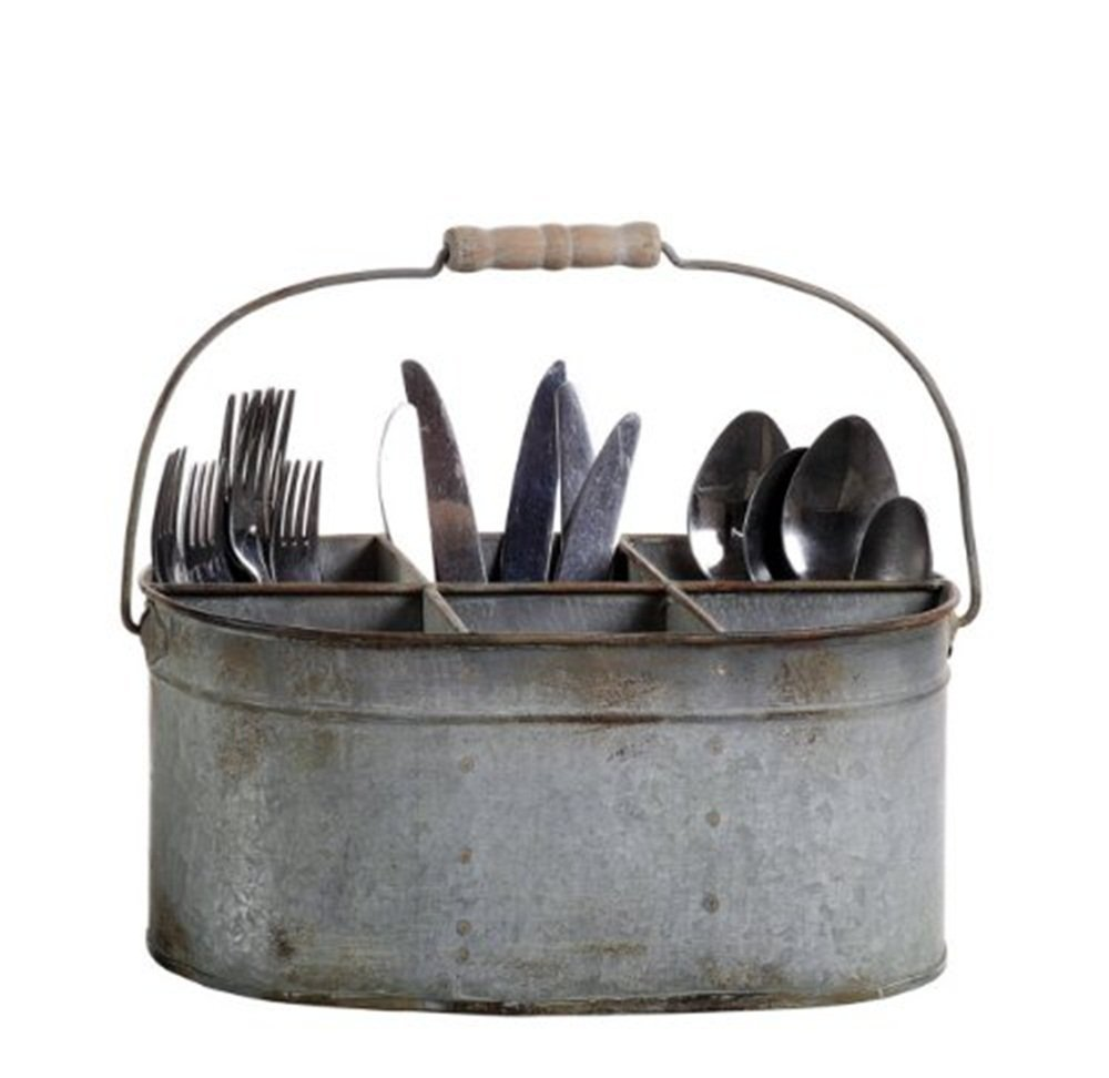 Metal Utensil Caddy With Handle For Kitchen Accessories Ideas