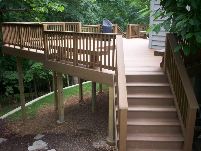 Mocca Evergrain Decking Matched With Mocca Railing And Stairs For Patio Inspiration