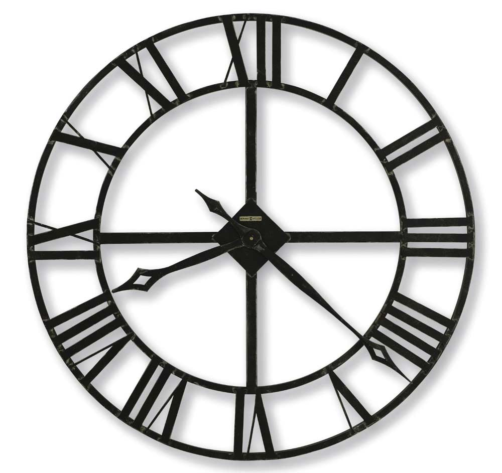 modern oversized wall clock with black numerals and black hand