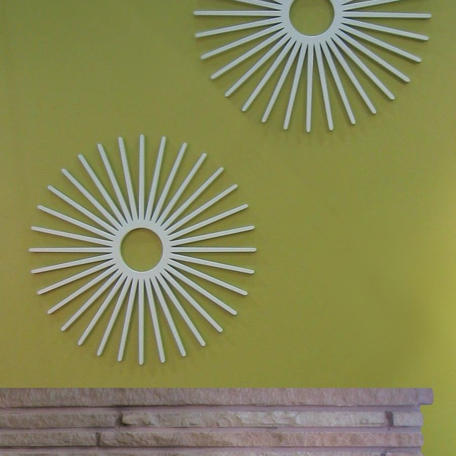 modern wall decor with white starburst wall decor on green wall ideas