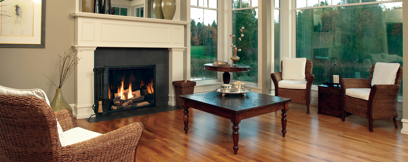 montigo fireplace with sofa on wooden floor for family room ideas