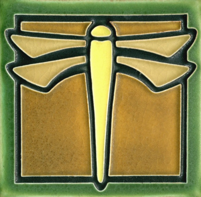 Motawi Tile Dragonfly 4 X 4 Inches