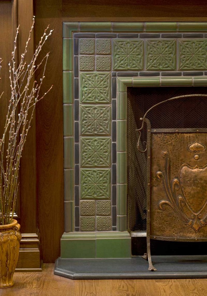 Motawi Tile For The Face Of Fireplace