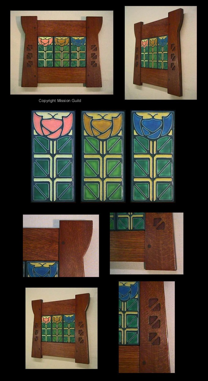 Motawi Tile With Wooden Frame Ideas