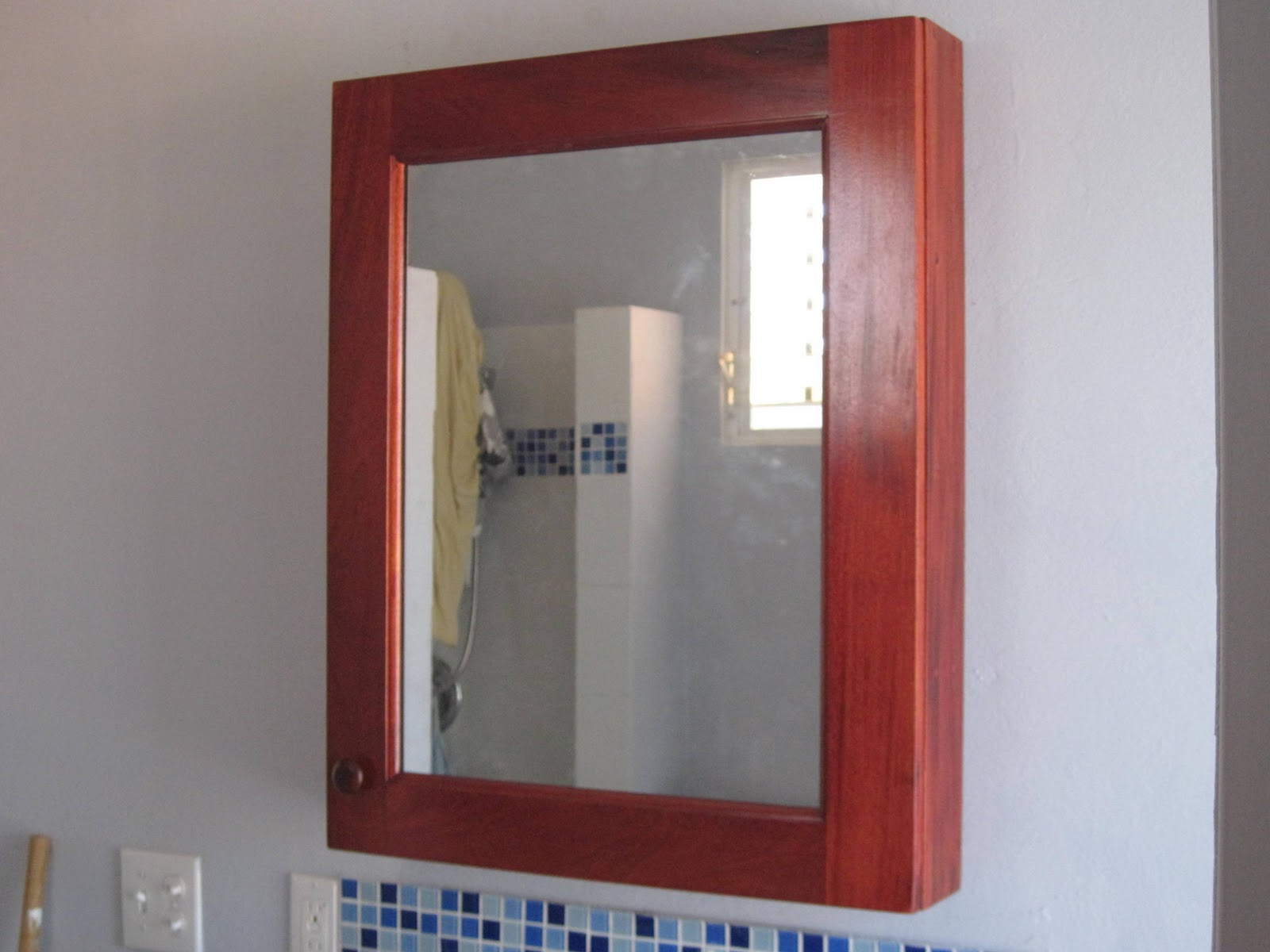 natural brown wood lowes Medicine Cabinets with Mirrors on white wall for charming bathroom furniture ideas