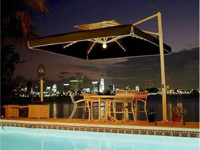 Offset Umbrellas Offset Cantilever Umbrellas For Home Resorts With Light And Outdoor Dining Table Ideas