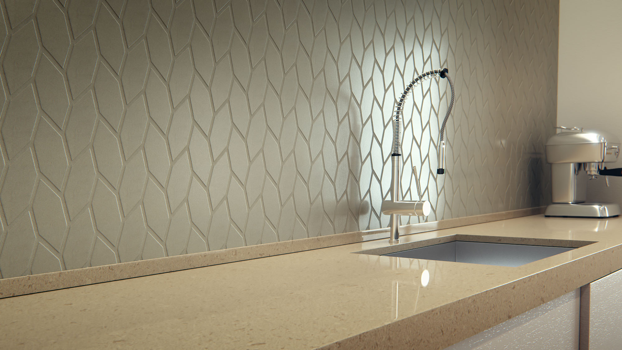 On Trend Textured Backsplashes by Caesarstone