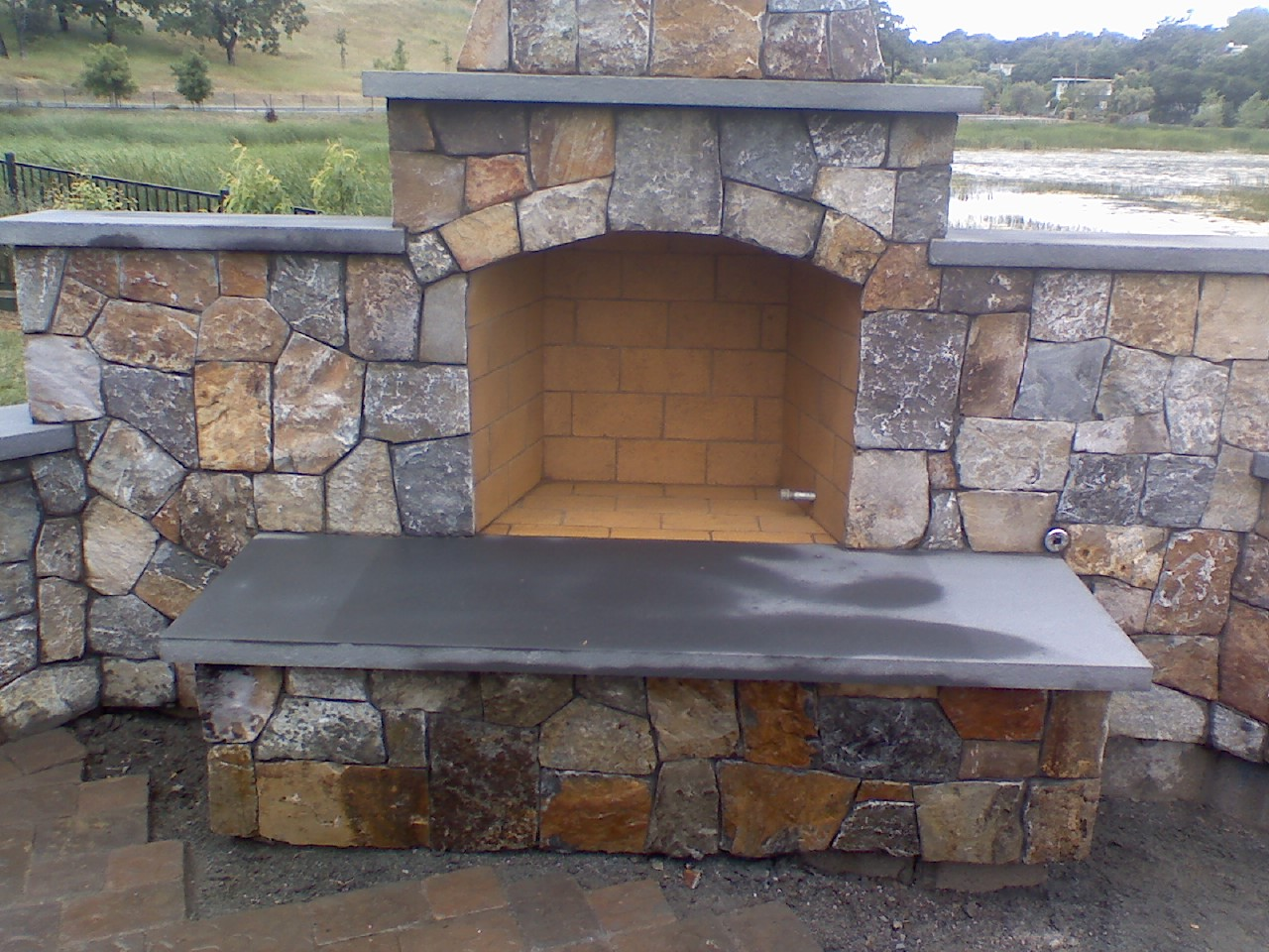 ideas u0026 tips outdoor isokern fireplace for beautiful backyard