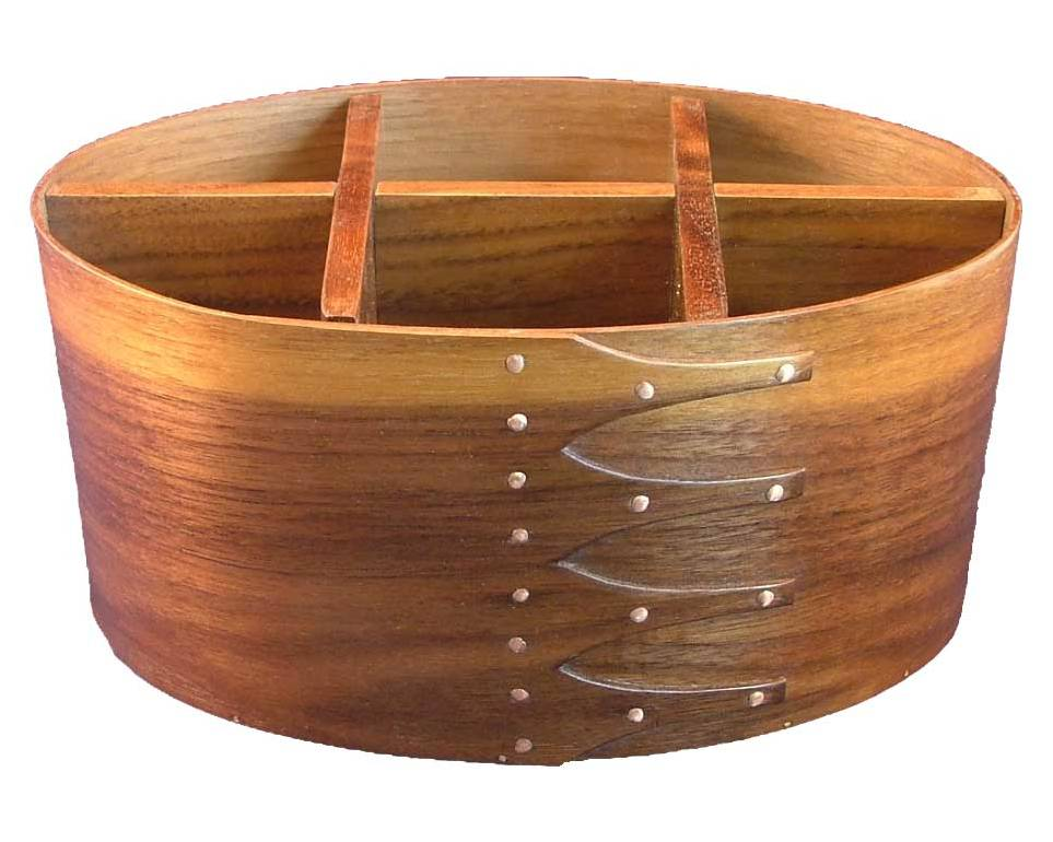 oval wooden utensil caddy for cutlery case ideas