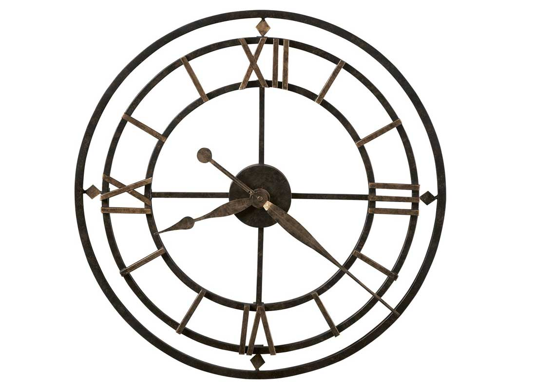 Oversized Wall Clock with brown hand and numbers ideas