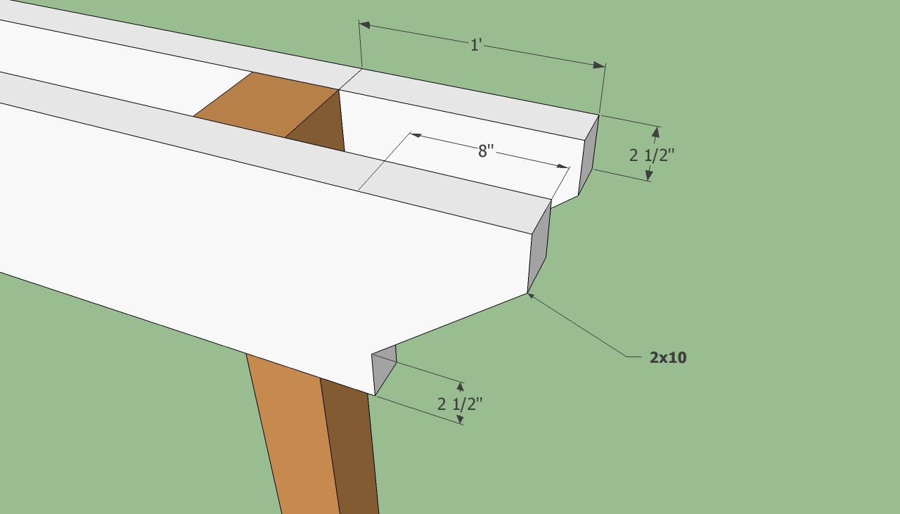 part of pergola plans in white and brown